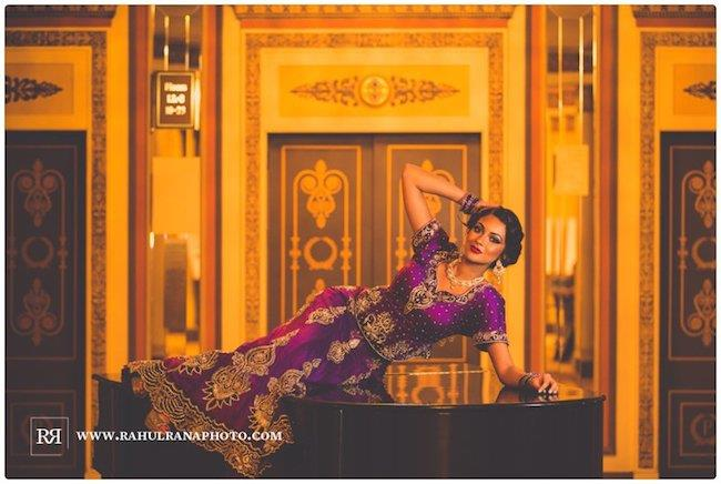 14a indian wedding purple lengha bridal