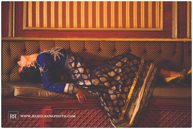 16a indian wedding blue anarkhali styled shoot