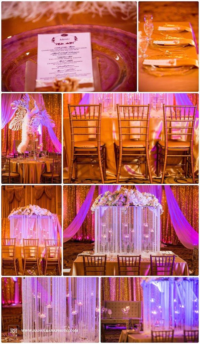 7a indian wedding reception decor