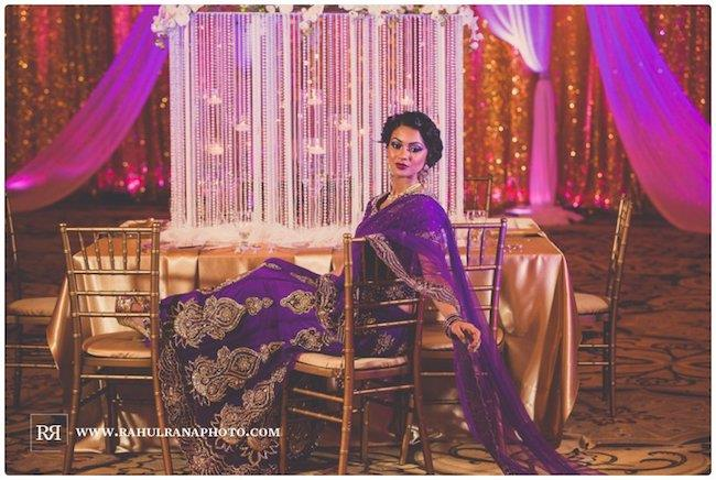 8a Indian wedding bridal sari and decor
