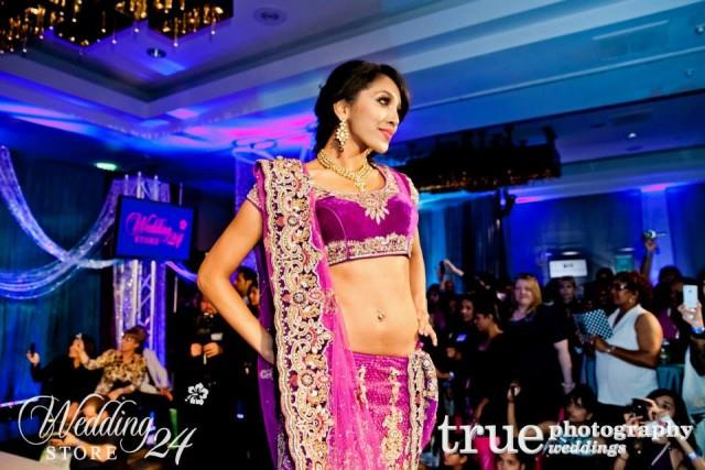 indian velvet bridal lengha purple