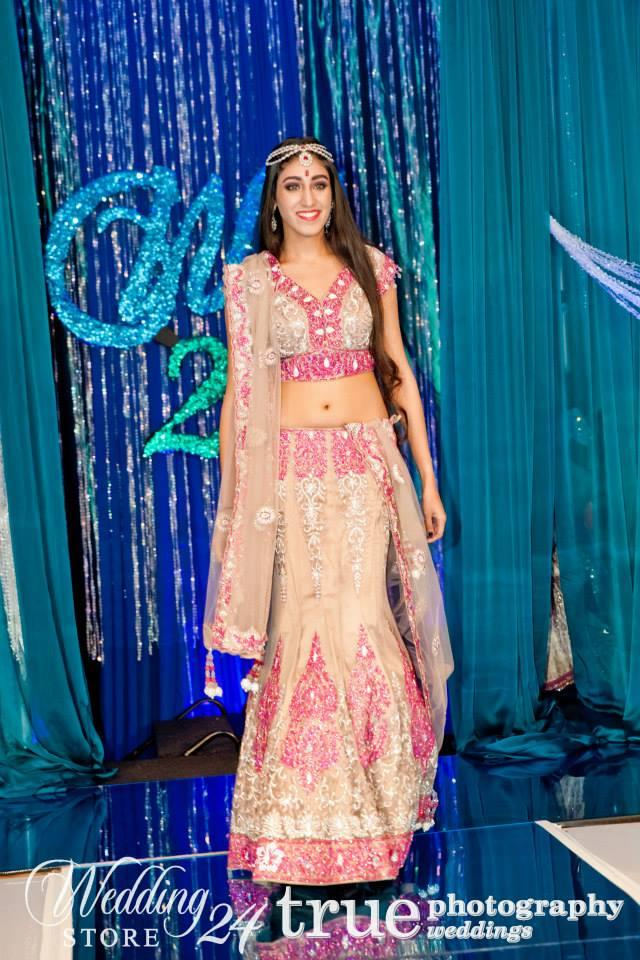WeddingStore 24 Fashion Show pink Indian bridal lehnga