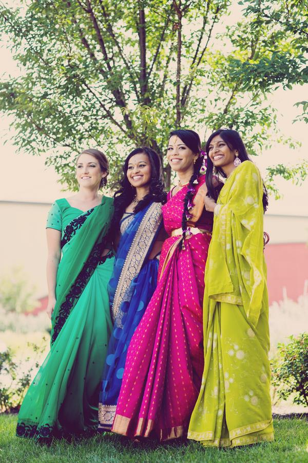 11a indian wedding bridesmaids