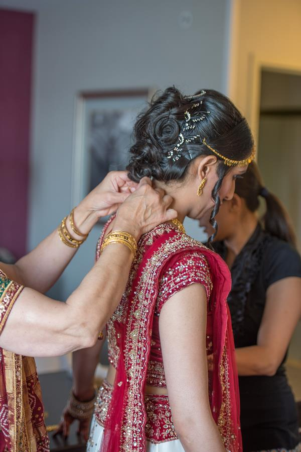 4a indian wedding getting dressed