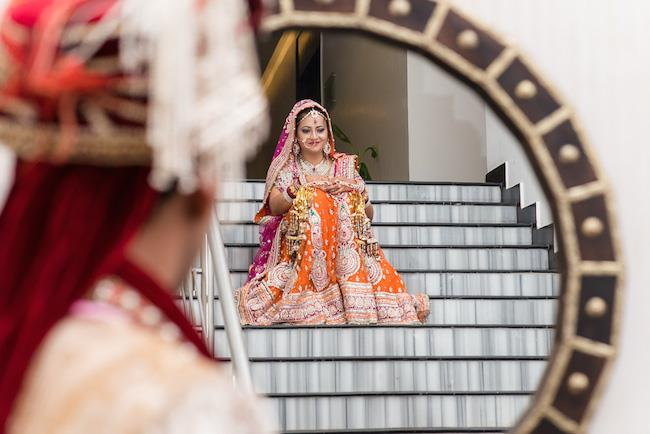 23a indian wedding bride lengha