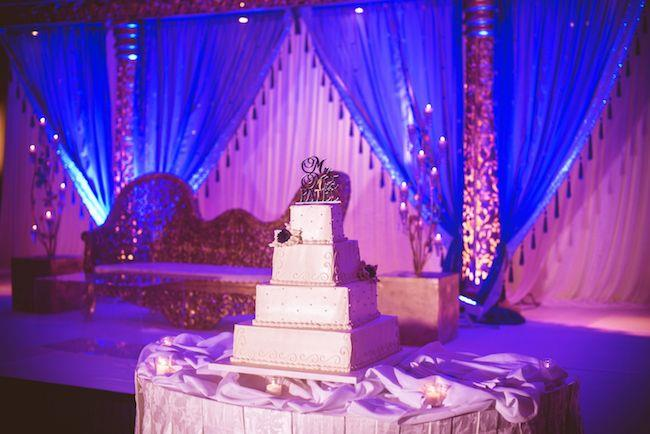 34a indian wedding reception decor and cake