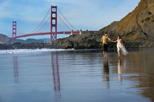 San Francisco Beach Styled Indian Wedding Themed Shoot - 2