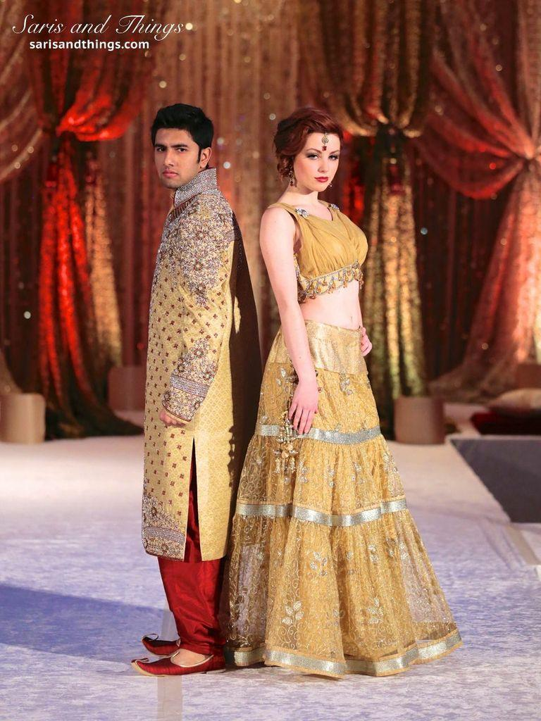 saris and things gold lace lengha sherwani