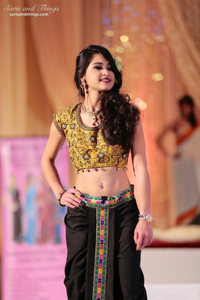 saris and things gold choli black lengha