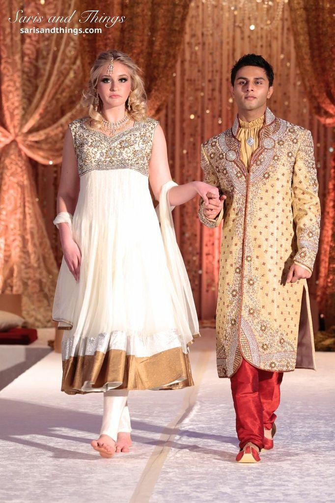 saris and things gold white anarkali churidar