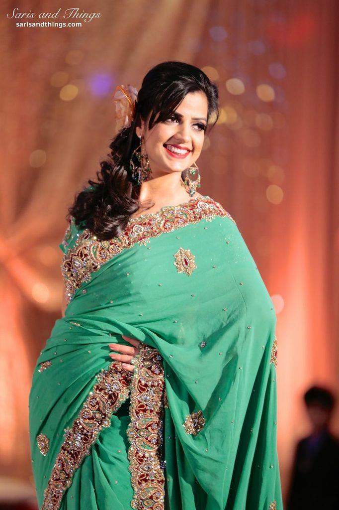 saris and things green sari