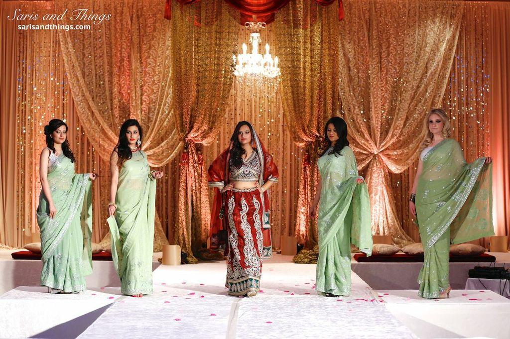 saris and things red lengha green saris