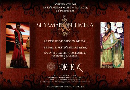 Shyamal and Bhumika Trunk Shows
