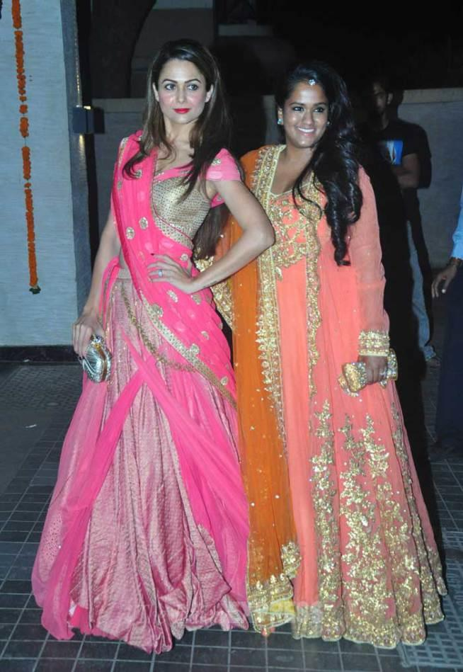soha ali khan reception amrita arpita