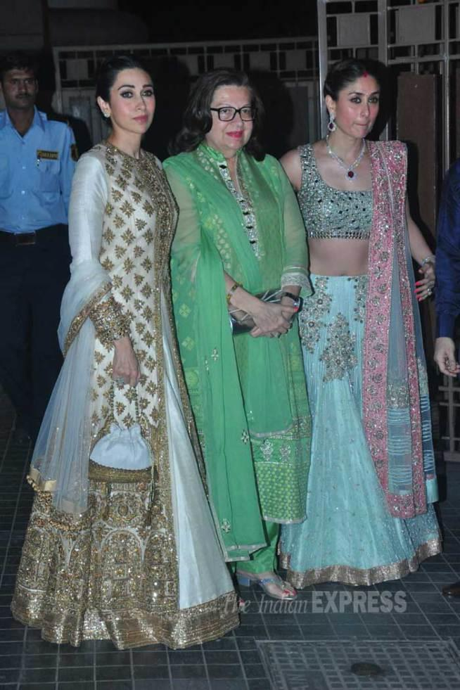 soha ali khan reception kareena-karisma-babita