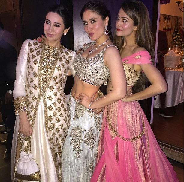 soha ali khan reception with karisma1