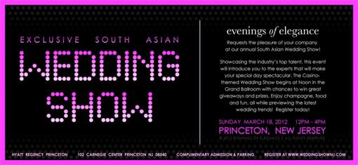 South Asian Wedding Show - March 18th - Princeton, NJ
