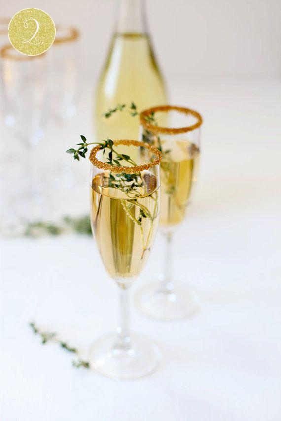 gold and green indian wedding cocktails
