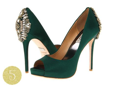 green indian wedding shoes
