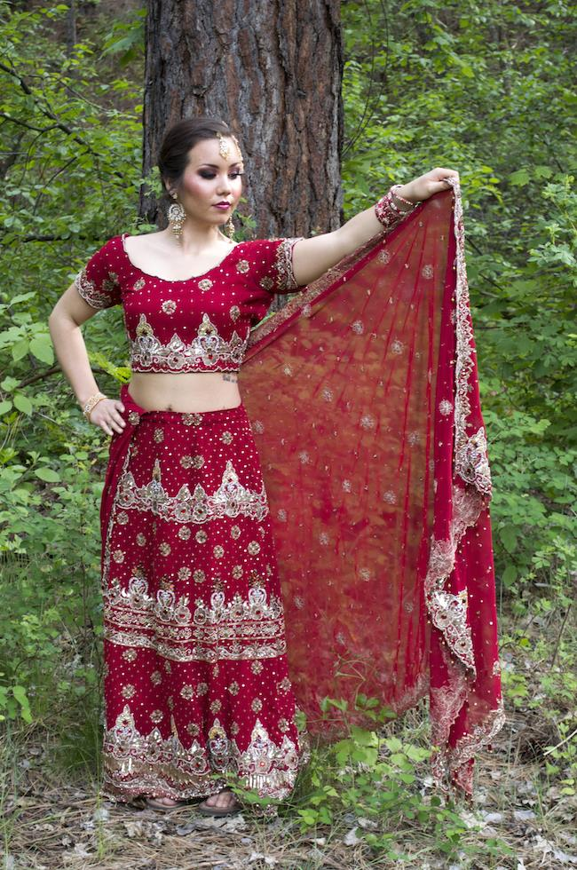 4a Indian red sari styled shoot