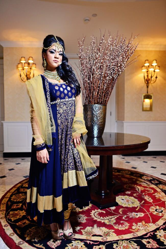 indian wedding anarkhali and jewelry