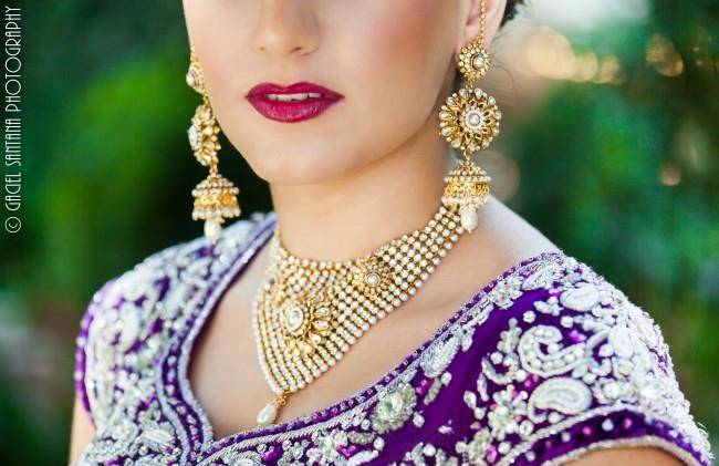 10Indian Wedding Pearl and Gold Jewelry Set