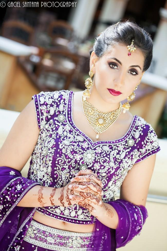 9indian wedding lengha makeup jewelry