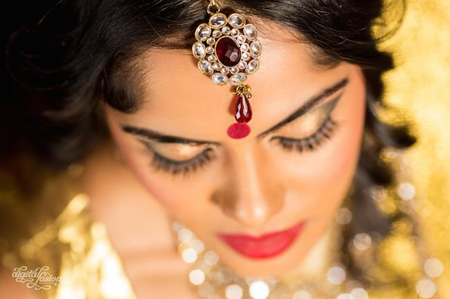 5 bridal eyelashes and tikka