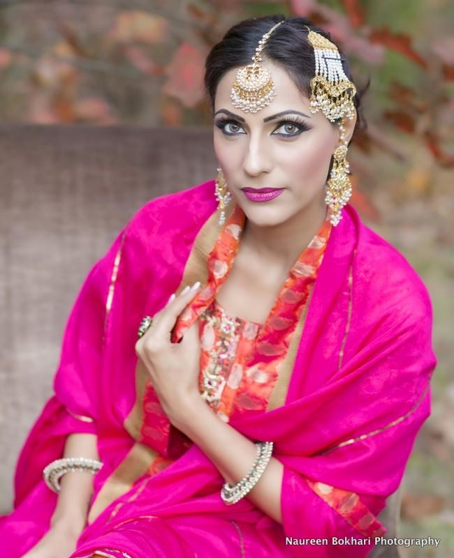 indian wedding retro bridal look