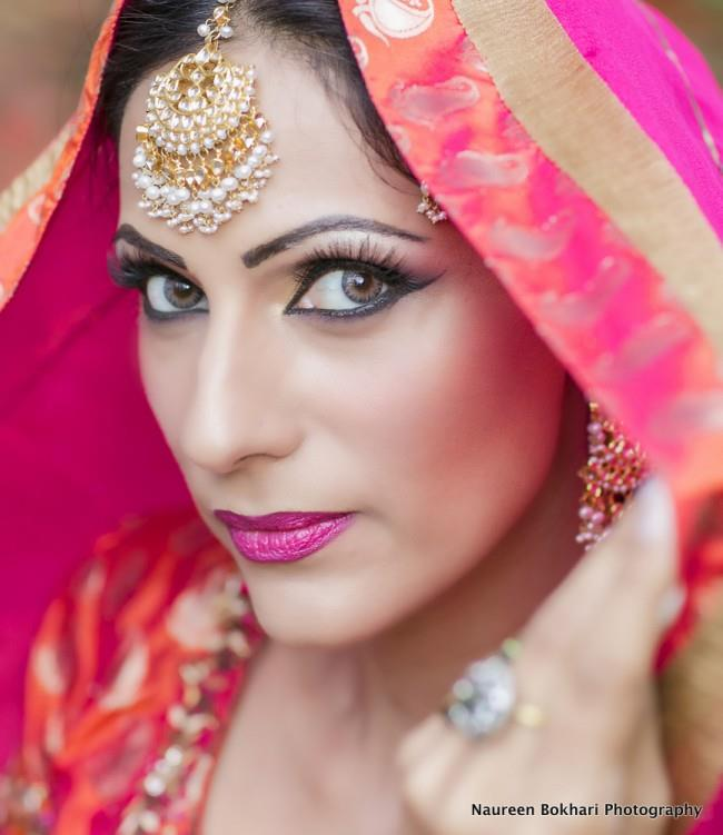 vintage indian bride matha patti wedding makeup