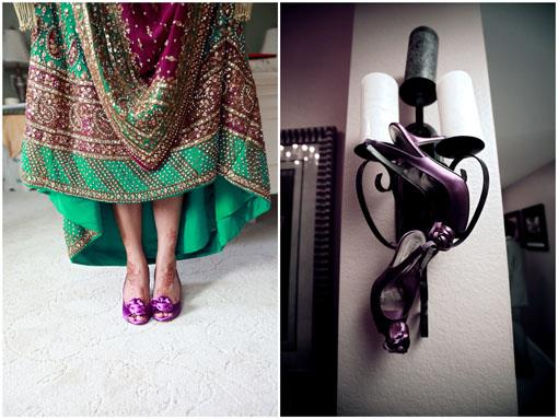 The Details: Purple Indian Wedding Shoes