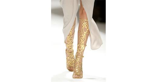 Tuesday Shoesday - Gold Indian Wedding Shoes