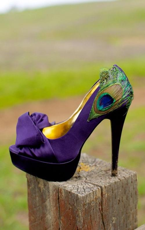 Tuesday Shoesday - Indian Wedding Peacock Shoes