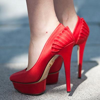 Tuesday Shoesday - Indian Wedding Red Satin Shoes