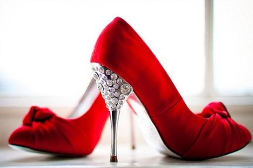 Tuesday Shoesday- Red Heels with Crystals