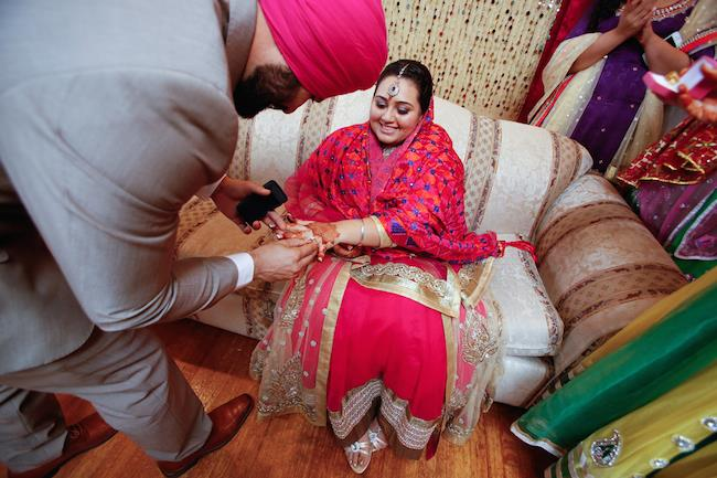 sikh engagement ring ceremony