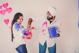 Paint War Themed Engagement Session by A.S. Nagpal Photography