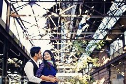 Vintage Outdoor Indian Engagement Session by Rag Artistry