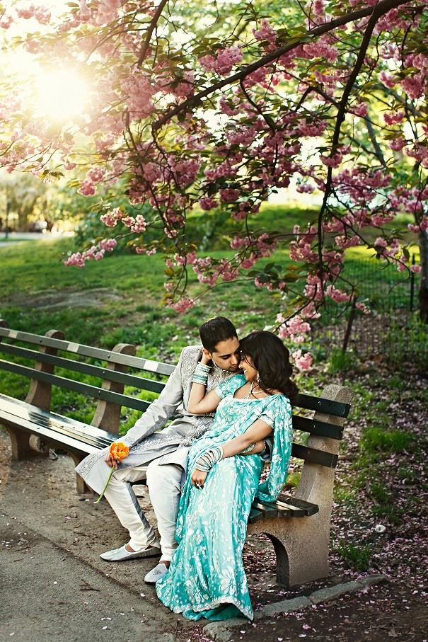 3a blue sari nyc indian engagement session