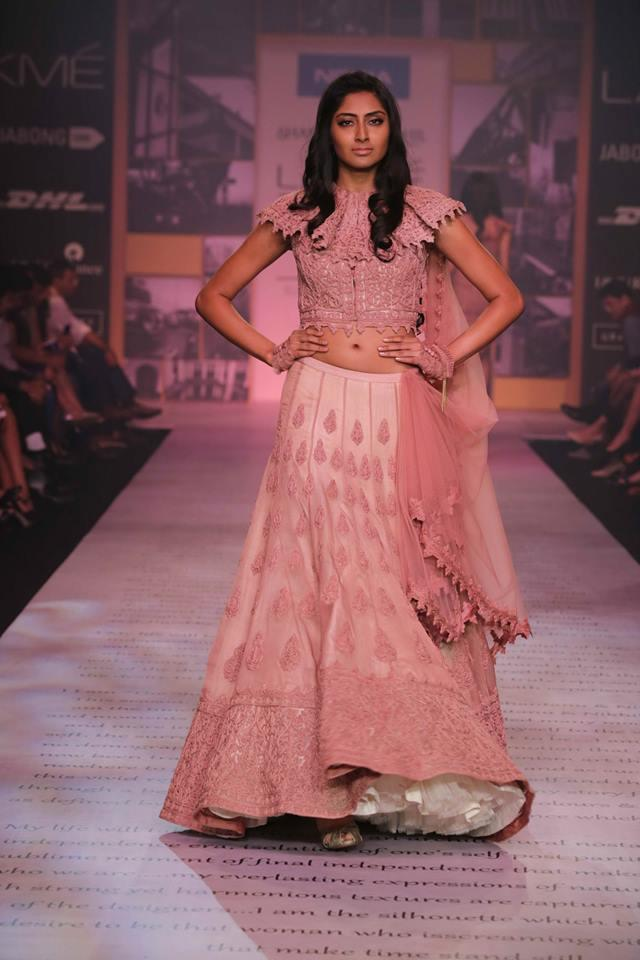 Shantanu & Nikhil Lakme Fashion Week Summer 2014 pink lehenga