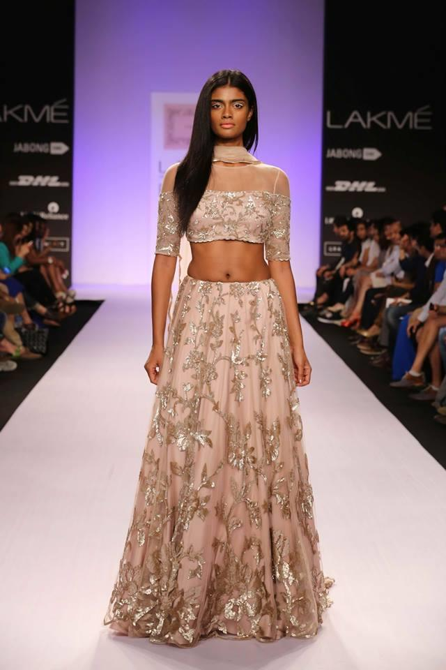 Shehlaa by Shehlaa Khan Lakme Fashion Week Summer 2014 soft pink lehenga