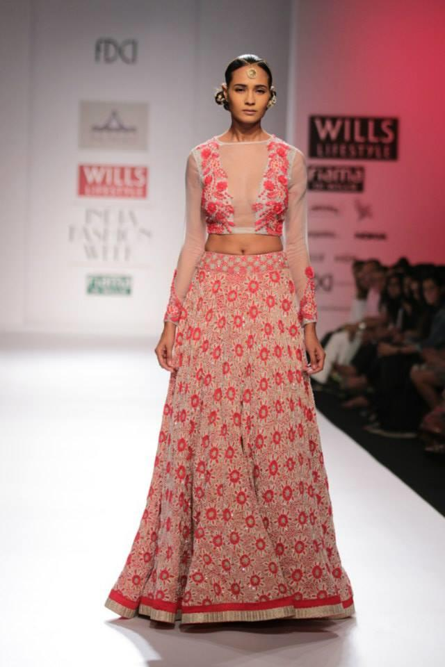 Pia Pauro Wills Lifestyle India Fashion Week feminine pink lehnga