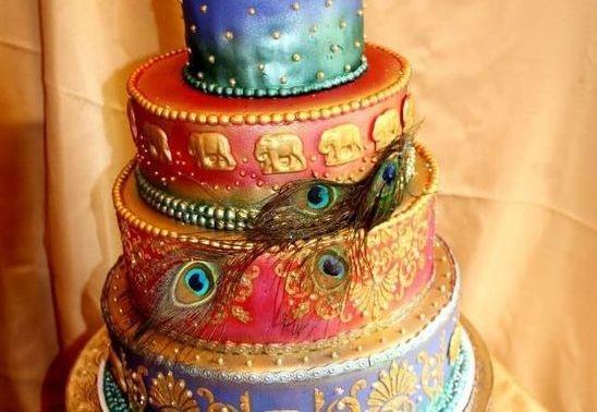 Mehndi Cushion Cake : Artisan cakes by julie