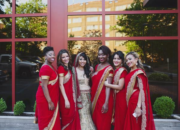 18a indian wedding bridesmaid saris