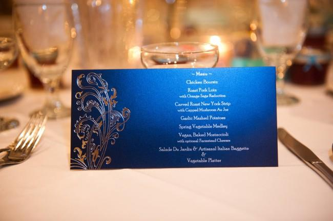 18m indian wedding blue dinner menu
