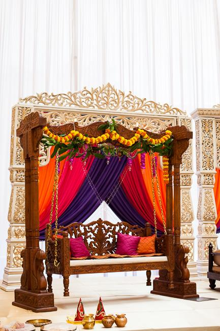 9a indian wedding mandap and swing