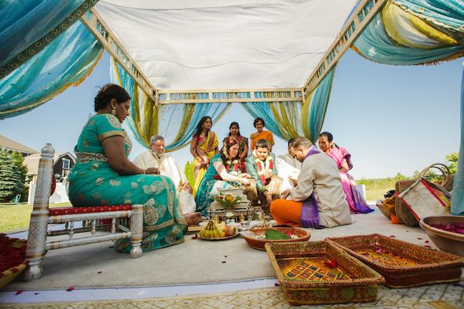 13a indian wedding outdoor hindu ceremony