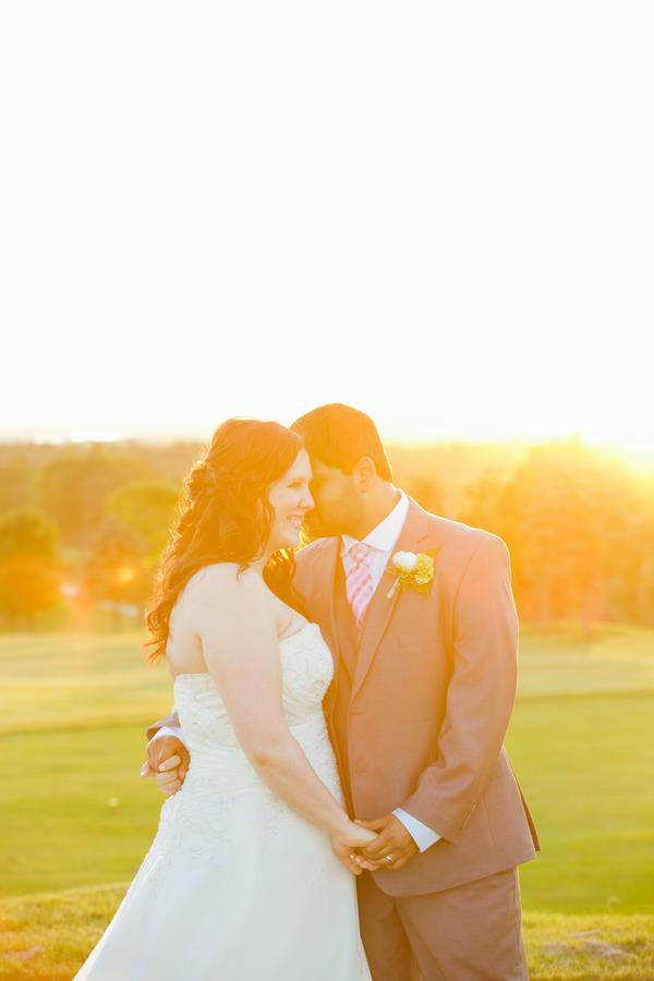 32a indian wedding sunset portrait