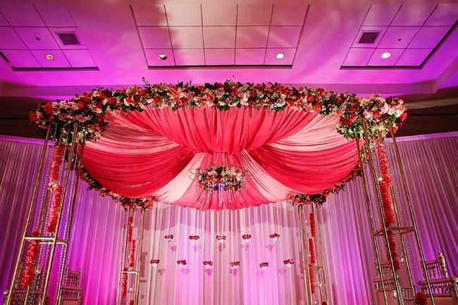 indian-wedding-pink-fabric-floral-mandap