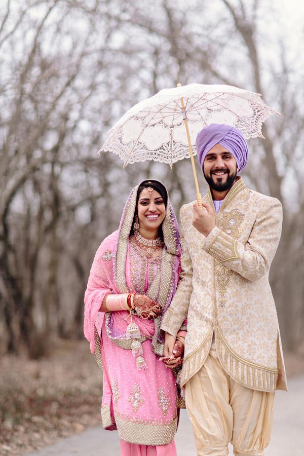 23a Indian Sikh wedding lace umbrella